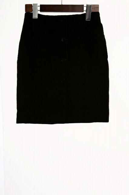 アニエスベー agnes b. ミニスカート 台形 ボタンダウン ウール 36 黒 ブラック /YO8 レディース 【中古】【ベクトル 古着】 181120 ブランド古着ベクトルプレミアム店