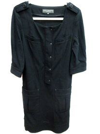 58d3832319935 ボディドレッシングデラックス BODY DRESSING Deluxe ワンピース スクエアネック 七分袖 ひざ丈 38 黒