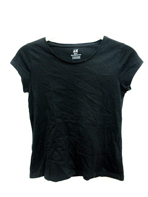 エイチ&エム H&M BASIC キッズ KID'S カットソー Tシャツ クルーネック フレンチスリーブ 140 黒 ブラック /AU レディース 【中古】【ベクトル 古着】 181226 ブランド古着ベクトルプレミアム店