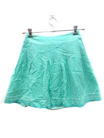 【中古】 アプワイザーリッシェ Apuweiser-riche スカート フレア ミニ 2 緑 グリーン /AU レディース 【ベクトル 古着】 190508