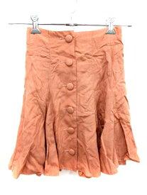 【中古】 スナイデル snidel スカート フレア ミニ 0 ピンク /YI レディース 【ベクトル 古着】 190501