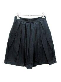 【中古】 シンゾーン Shinzone THE SHINZONE スカート フレア ミニ 36 黒 ブラック /YK レディース 【ベクトル 古着】 190430
