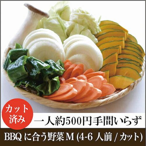 【BBQに合う野菜M(4~6人前/カットタイプ)】クール便|カット不要|パーティーに|レジャーに
