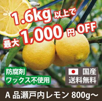 A級品広島県瀬戸田のレモン(無農薬)(1kg)