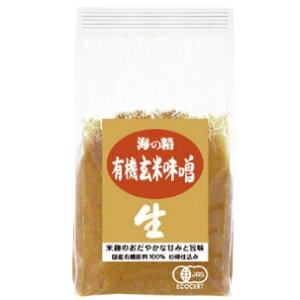 海の精 国産有機玄米味噌 1kg 3パック