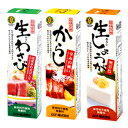 ムソー 旨味本来 チューブ香辛料3種( 生おろしわさび・からし・しょうが)セット 40g 各1本