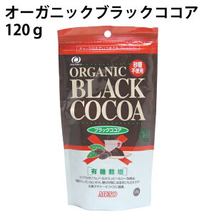 オーガニックブラックココア 120g ×1袋 有機JAS(日本認証サービース)認定商品