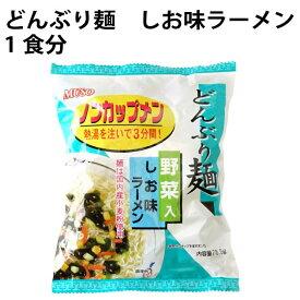 インスタントラーメン 無添加 どんぶり麺 ノンカップメン 塩ラーメン 1食分 ×24袋 国産小麦粉使用