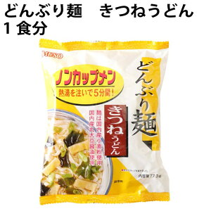 無添加 どんぶり麺 ノンカップメン きつねうどん 1食分 ×24袋 国産小麦粉使用