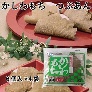 こどもの日 芽吹き屋 柏餅 つぶあん 北海道産小豆使用 6個入 4袋