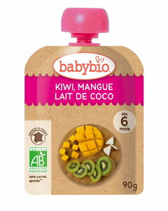ミトクbaby bio 有機ベビースムージー キウイ・マンゴー・ココナッツ 90g 10袋