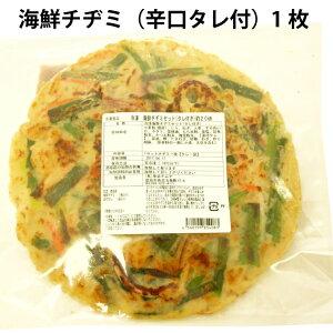 韓国料理 魚谷キムチ 海鮮チヂミセット(辛口タレ付き) 国産小麦粉使用 250g1枚×6パック