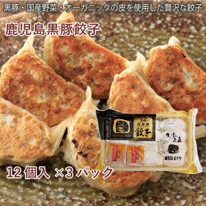 冷凍惣菜 時短ごはん 鹿児島ますや 黒豚餃子(オーガニック皮)12個入 3パック