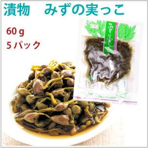 雄勝野きむらや みずの実っこ 秋田県産山菜漬け 60g× 5パック