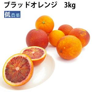 ブラッドオレンジ 低農薬栽培 3kg