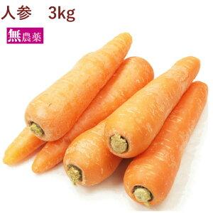 人参 無農薬栽培 3kg