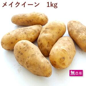 じゃがいも メイクイーン 1kg 無農薬栽培