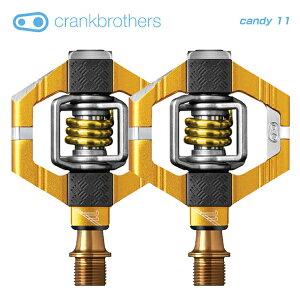 (送料無料)(crankbrothers)クランクブラザーズ PEDAL ペダル candy 11 キャンディ11v2 ゴールド(左右ペア)