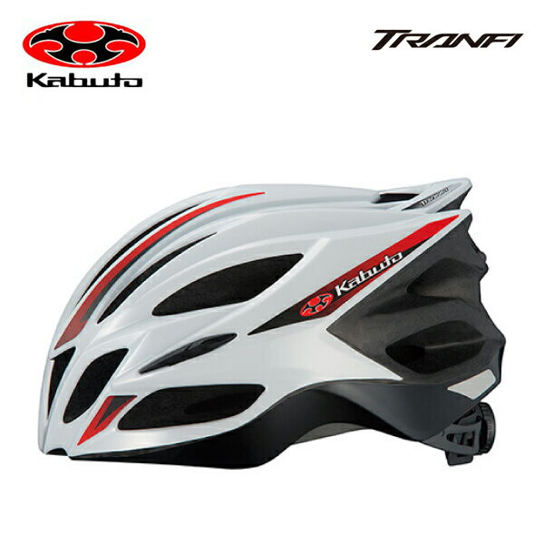 OGK KABUTO オージーケーカブト HELMET ヘルメット TRANFI トランフィ (JCF公認)ホワイトレッド SM(4966094559281)LXL(4966094559298)