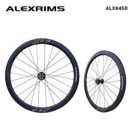 (送料無料)ALEXRIMS アレックスリム DISC ROAD カーボンクリンチャーホイール ALX845D (シマノ・スラム 8-9-10-11S) 前後セット(820504)