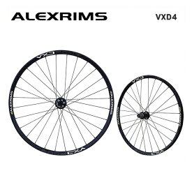 (送料無料)ALEXRIMS アレックスリム MTB チューブレスレディホイール VXD4 (シマノ 8-9-10-11S) 前後セット