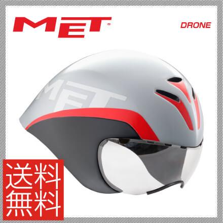 (送料無料)17 MET メット HELMET ヘルメット DRONE ドローン ホワイトブラックレッド(JCF公認)(16継続)