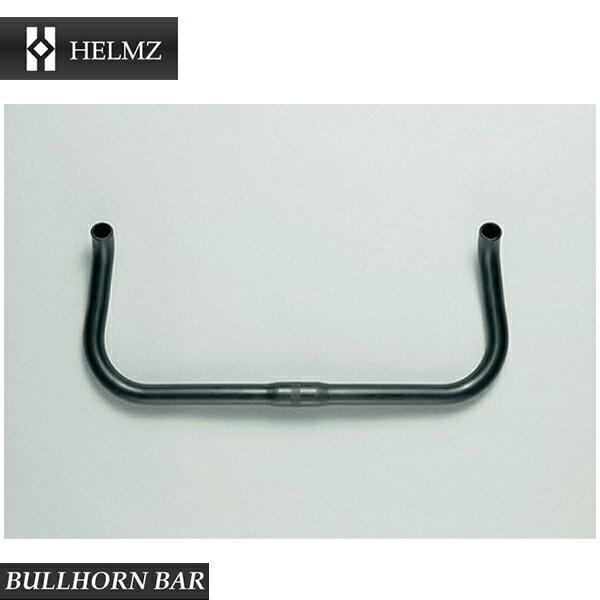 (HELMZ)ヘルムズ BULLHORN BAR ブルホーンバー ブラック 410mm×Φ26.0×Φ22.2(幅×センター径×バー径)(F111020BL)