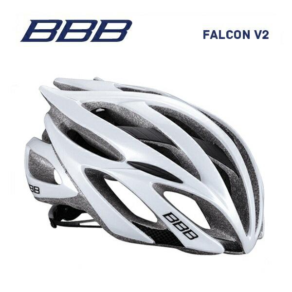 (送料無料※北海道・沖縄県除く)BBB ヘルメット BHE-01 FALCON V2 ファルコンV2 ホワイト