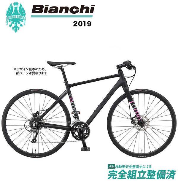 クロスバイク 2019年 BIANCHI ビアンキ ROMA3 Disc ローマ3 Disc Matt Black/Pink
