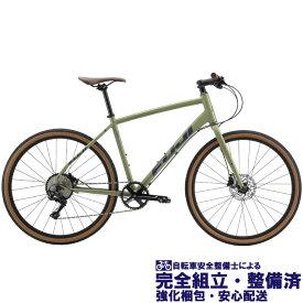 """(選べる特典付き!) クロスバイク 2020 FUJI フジ RAFFISTA ラフィスタ オリーブ (10段変速)(油圧ディスクブレーキ)(27.5"""")(ペダル標準)"""