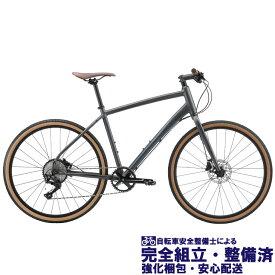 """(選べる特典付き!) クロスバイク 2020 FUJI フジ RAFFISTA ラフィスタ マットブラック (10段変速)(油圧ディスクブレーキ)(27.5"""")(ペダル標準)"""
