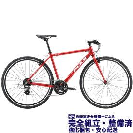 (選べる特典付き!)クロスバイク 2020 FUJI フジ RAIZ ライズ ブリリアントレッド (24段変速)(700C)(ペダル標準装備)