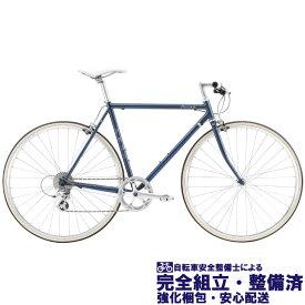 クロスバイク 2020 FUJI フジ BALLAD バラッド ネイビー (8段変速)(700C)(クロモリ)(ペダル標準)
