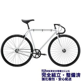 ロードバイク 2020 FUJI フジ FEATHER フェザー マットシルバー (シングルスピード)(ピストバイク)(700C)(クロモリ)(ペダル標準装備)