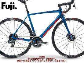 (ケミカル3点プレゼント)ロードバイク 2021 FUJI フジ SL 1.1 DISC FRAME SET PEARL BLUE/RED ORANGE フレームセット