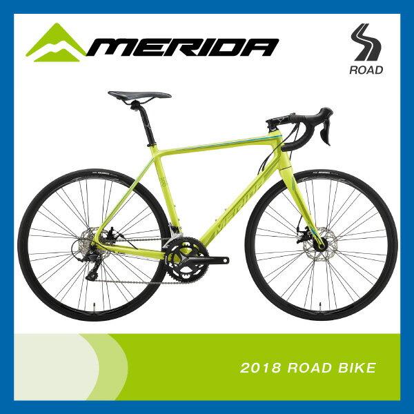 (特典付)ロードレーサー 2018年モデル MERIDA メリダ SCULTURA DISC 200 スクルトゥーラディスク200 ライトグリーン(ブルーダークグリーン) EG26