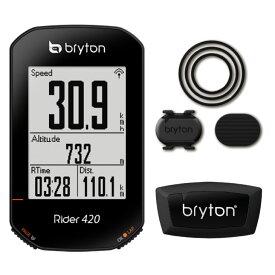 Bryton ブライトン RIDER 420T ライダー 420T (ケイデンス・心拍センサー付) サイクルコンピューター GPS ルートナビ搭載 (4718251592842)