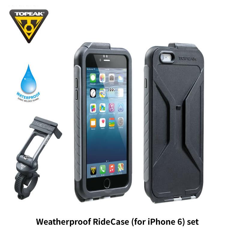 TOPEAK トピーク Weatherproof RideCase (for iPhone 6) SET ウェザープルーフライドケースiPhone6用セット(BAG32200)(4712511835809)
