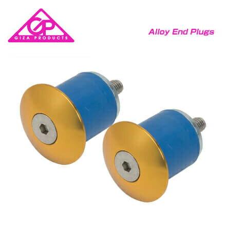 (GIZA)ギザ BARENDCAP バーエンドキャップ Alloy End Plugs アルエンドプラグ ゴールド(2個セット)(4935012321293)