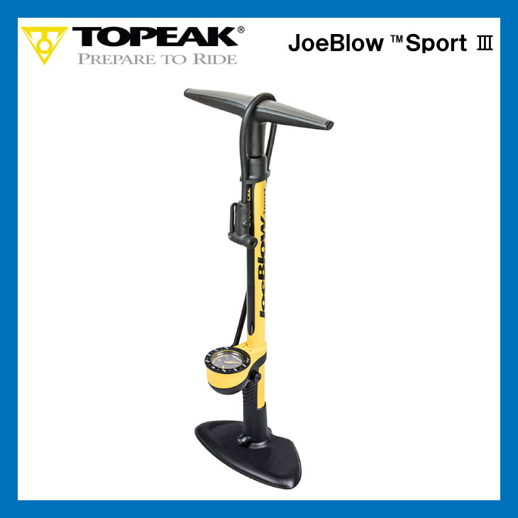 TOPEAK トピーク フロアポンプ JoeBlow Sport 3 ジョーブロースポーツ 3(4712511840681)
