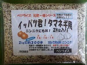 追肥がいらないベジライス一発肥料!イッパツ君 タマネギ専用肥料16-16-14 2kg 約300本用手間をかけずに玉ねぎ栽培!