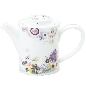 ポット コーヒーポット ギフトパッケージ入り カトウ シンジ フラワーデザイン Perfume デザイナーズ 食器 日本製 陶器 お洒落 お祝い 贈答品生活 雑貨 取寄品 結婚祝い のし利用可