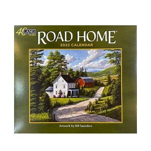 2022年 カレンダー LANG 壁掛け Road Home Bill Saunders ラング カントリー 風景 インテリア 令和4年暦 v-2108clcp 100円クーポン