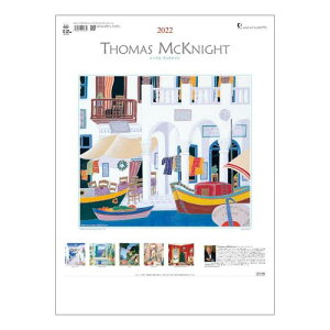 トーマス マックナイト カレンダー 2022年 壁掛け ART トーダン 海外 作家 アート インテリア 令和4年暦