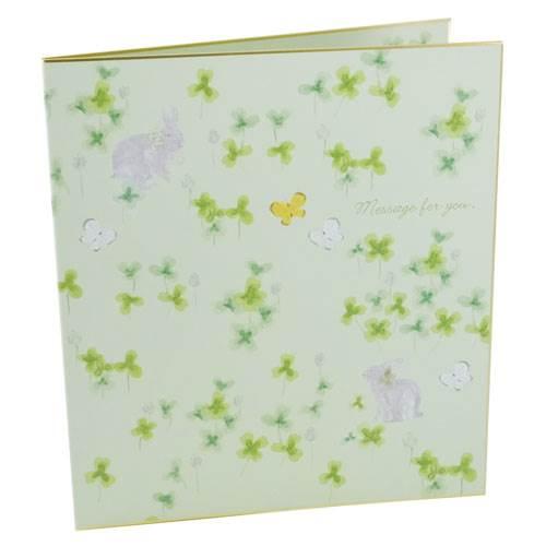 二つ折り色紙 いわぶちさちこ クローバー おしゃれでかわいい想い出メモリアルギフト通販 【プレゼント】【あす楽】 【全品ポイント10倍】5/30まで