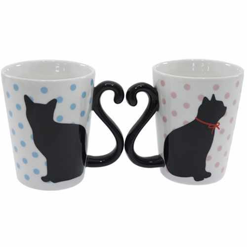 クロネコ 雑貨 ペア マグカップ 2個セット マグカップ 黒猫 ドット アルタ 可愛い 新婚祝い プレゼント食器クロネコ 雑貨 【プレゼント】【結婚祝い】【あす楽】 【のし利用可】