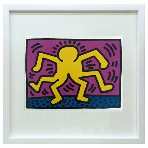 【送料無料】POP ART インテリア アート キース へリング Keith Haring IKH-60645 美工社 43×43cm 壁掛け 額付きポップアート通販 【取寄品】【プレゼント】ベルコモン【結婚祝い】【引越し祝い/新築祝い/開業祝い】