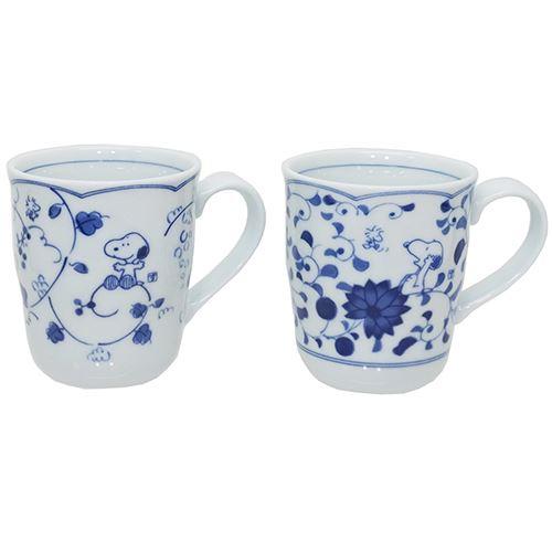 ペアマグ 2個セット マグカップ スヌーピー 藍唐草 ピーナッツ 金正陶器 ギフト雑貨 日本製食器 通販