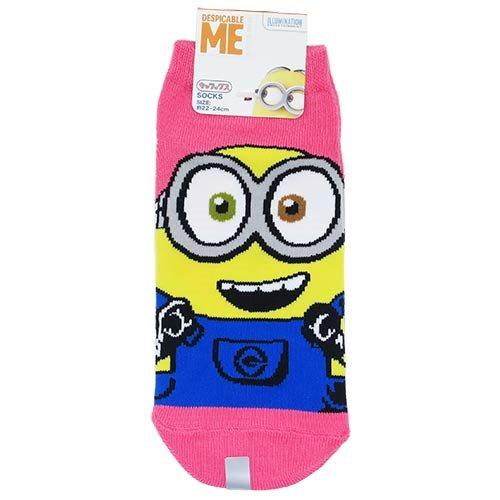 レディース ソックス 女性用 靴下 ミニオンズ ボブ ピンク スモールプラネット 22〜24cm かわいい 通販 【メール便可】