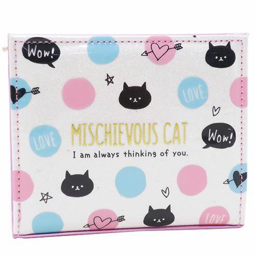 ハート窓あき 二つ折り 財布 ジュニア ウォレット MISCHIEVOUS CAT クラックス かわいい 小学生 お財布通販